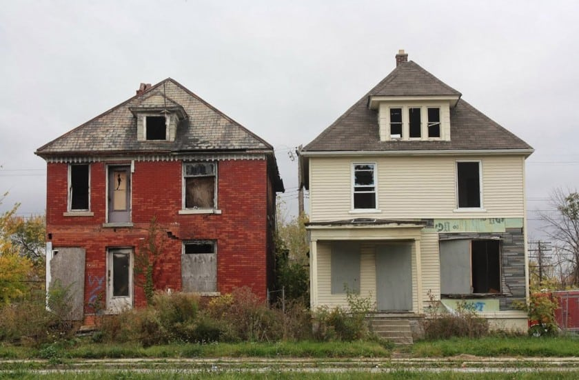 Two vacant houses